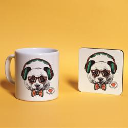 Panda Baskılı Kupa Bardak