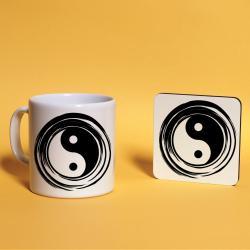 Yin&Yang Baskılı Kupa Bardak