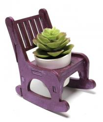 Lora Sallanan Sandalyeli Çiçeklik, Mürdüm