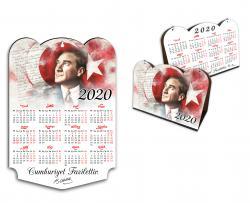 2020 Ahşap Atatürk Duvar & Masa Takvim