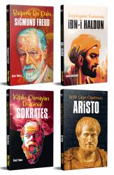 Dünyayı Değiştiren İnsanlar 4 Kitap Freud-Sokrates-Aristo-İbni Haldun