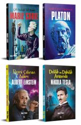 Dünyayı Değiştiren İnsanlar 4 Kitap Einstein-Marie Curie-Tesla-Platon