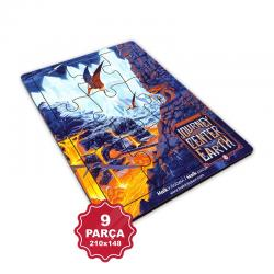Çocuk Klasikleri 9 Parça Küçük Ahşap Puzzle Model 3