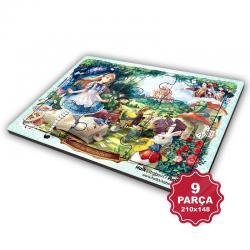 Çocuk Klasikleri 9 Parça Küçük Ahşap Puzzle Model 8