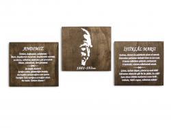 Atatürk, 3 Parça Tablo HK0963