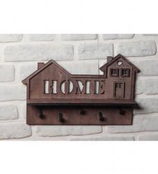 HK Dekor Home Raflı Ev Motifli Anahtarlık
