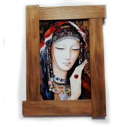 3D Yüzük ve Kadın Ahşap Tablo HK0009