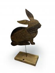 Dekoratif Ahşap Tavşan Figürü