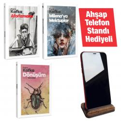 Kafka Üçlemesi -3 Kitap -Ahşap Telefon Standı Hediyeli