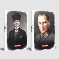Tarihsiz Atatürk Defter Kalpaklı ve Mareşal