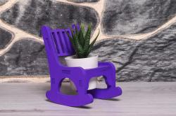 HK Dekor Lora Sallanan Sandalye Çiçeklik - Mor