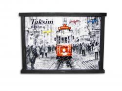 Taksim Temalı Tablo Anahtarlık HK972