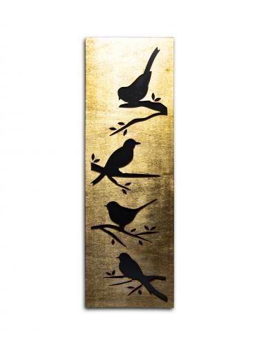 Kuş Figürlü Ahşap Tablo HK965 %10 indirimli
