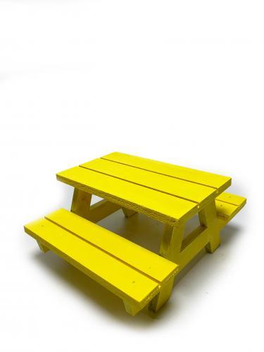 HK KITCHEN - Sunumluk Bank Sarı