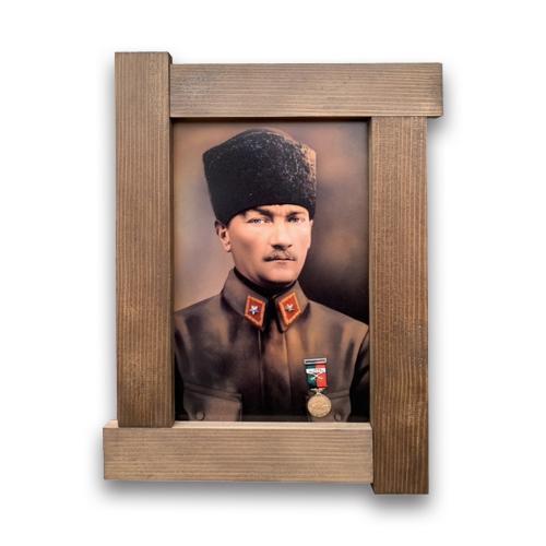 3D Mareşal Atatürk Ahşap Tablo