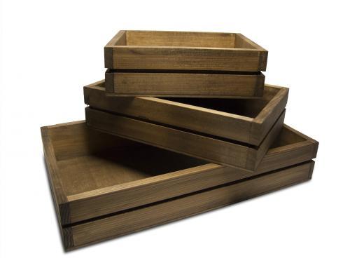 Ahşap Ekmek Kasası Set, 3 Boy