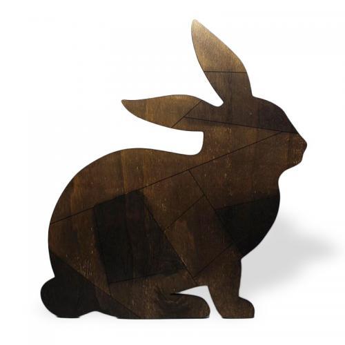 Ahşap Duvar Süsü Tavşan