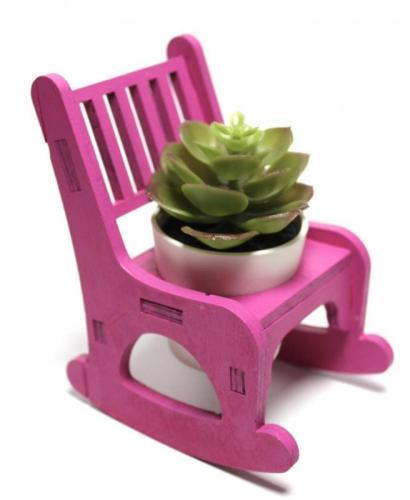 Lora Sallanan Sandalyeli Çiçeklik, Fuşya - -Halkkitabevi