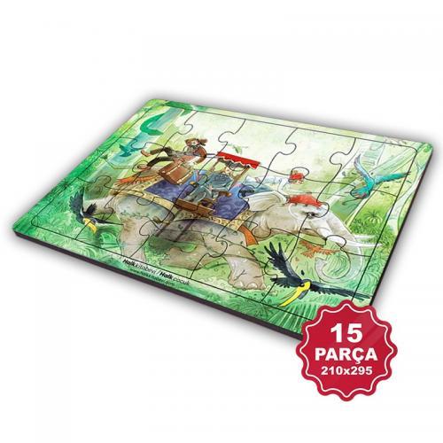Çocuk Klasikleri 15 Parça Büyük Ahşap Puzzle Model 10