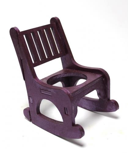 Lora Beton Saksılı Sallanan Sandalyeli Çiçeklik, Mürdüm - -Halkkitabev