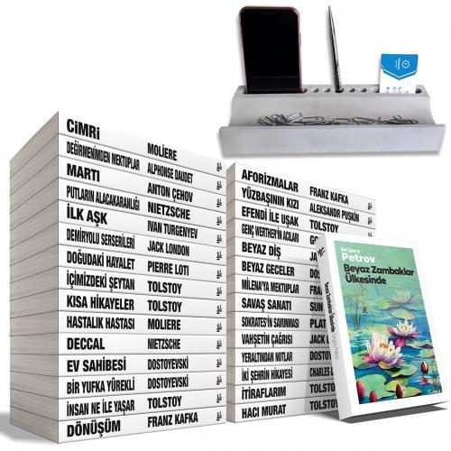 Büyük Dünya Klasikleri Seti - 30 Kitap - Beton Masaüstü Düzenleyici