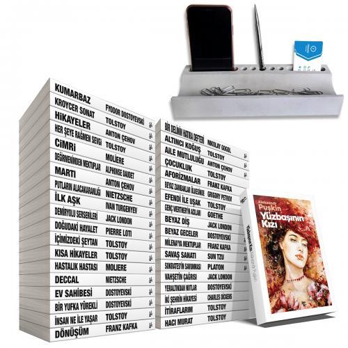 Büyük Dünya Klasikleri Kütüphanesi - 38 Kitap - Beton Masaüstü Düzenleyici