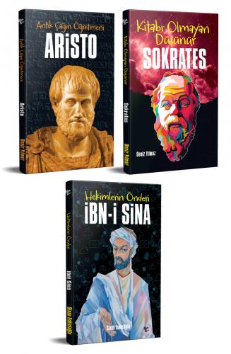Dünyayı Değiştiren İnsanlar 3 Kitap Aristo-Sokrates-İbni Sina