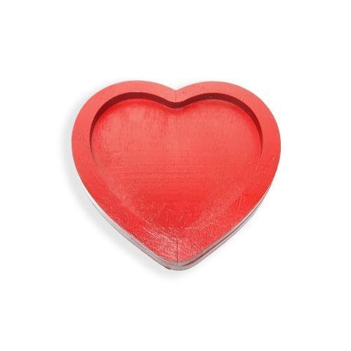 Ahşap Kalp Bardak Altlığı - -Halkkitabevi