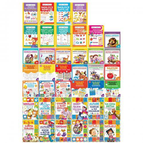 Çocuklar İçin Aktivite Dünyası Seti - 40 Kitap - -Halkkitabevi