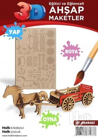 At Arabası Ahşap Maket - -Halkkitabevi