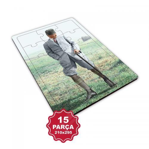 Atatürk 15 Parça Büyük Ahşap Puzzle Model 2