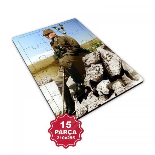 Atatürk 15 Parça Büyük Ahşap Puzzle Model 3