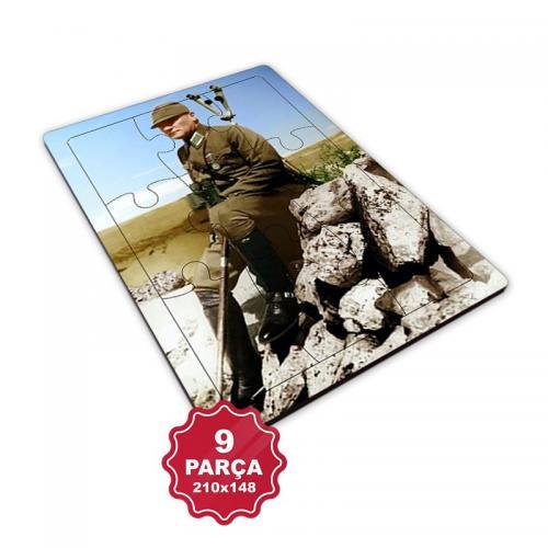 Atatürk 9 Parça Küçük Ahşap Puzzle Model 3