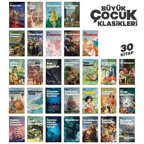 Büyük Çocuk Klasikleri Seti - 30 Kitap - -Halkkitabevi