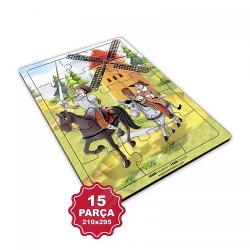 Çocuk Klasikleri 15 Parça Büyük Ahşap Puzzle Model 4