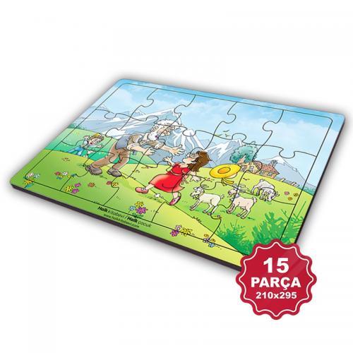 Çocuk Klasikleri 15 Parça Büyük Ahşap Puzzle Model 7