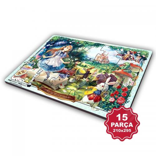 Çocuk Klasikleri 15 Parça Büyük Ahşap Puzzle Model 8