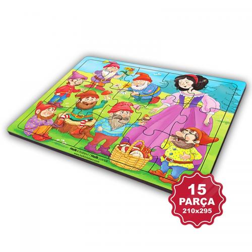 Çocuk Klasikleri 15 Parça Büyük Ahşap Puzzle Model 9