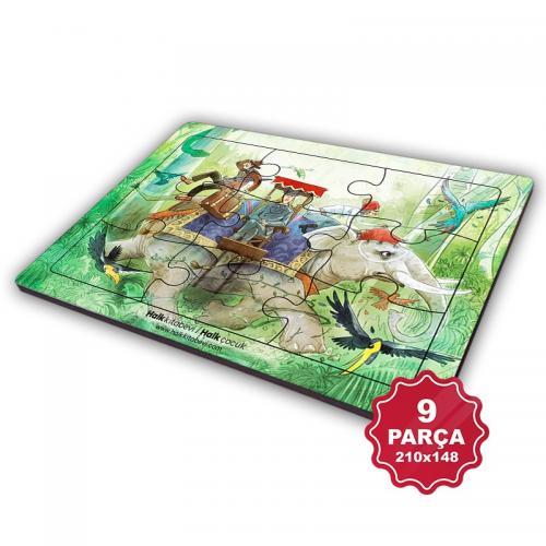Çocuk Klasikleri 9 Parça Küçük Ahşap Puzzle Model 10