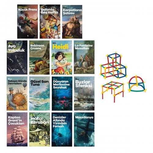Çok Sevilen Çocuk Romanları Seti - 15 Kitap ve Sihirbaz Çubuklar