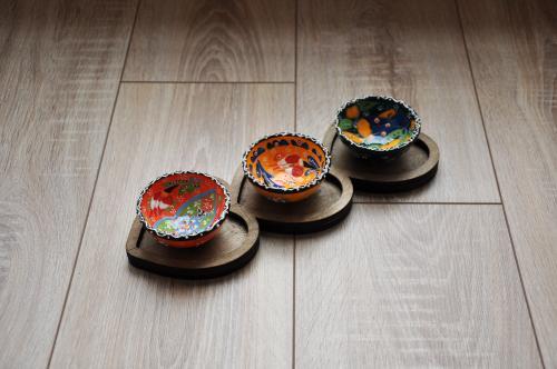 Hk Kitchen Rose Desenli Çini Kase Takımı