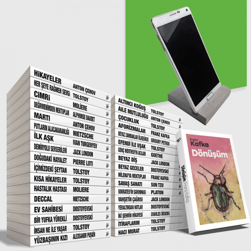 Büyük Dünya Klasikleri Kütüphanesi - 35 Kitap - Beton Telefon Standı Hediyeli