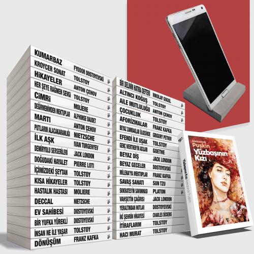 Büyük Dünya Klasikleri Kütüphanesi - 38 Kitap - Beton Telefon Standı Hediyeli