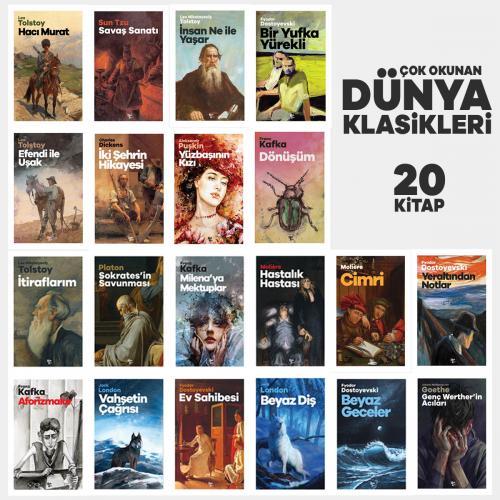 Çok Okunan Dünya Klasikleri Seti - 20 Kitap
