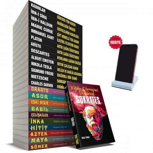 Dünyayı Değiştirenler ve Uygarlıklar Seti - 24 Kitap ve Beton Telefon Standı