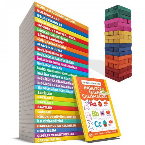 Eğitici ve Öğretici Etkinlik Olimpiyatları ve Renkli Denge Oyunu - 30 Kitap