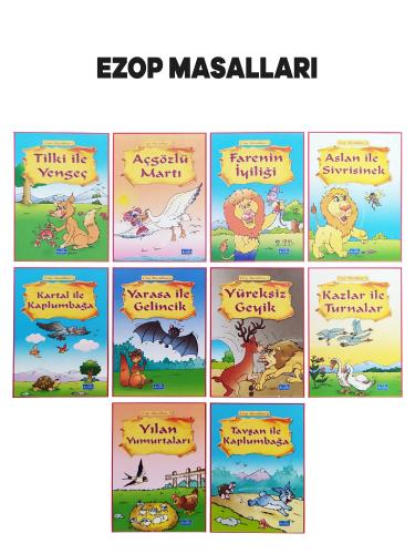 Ezop Masalları - 10 Kitap