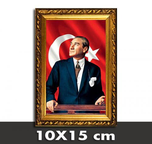 Atatürk Portreli Askılıklı Çerçeve 3