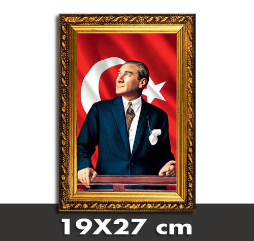 Atatürk Portreli Askılıklı Çerçeve 6