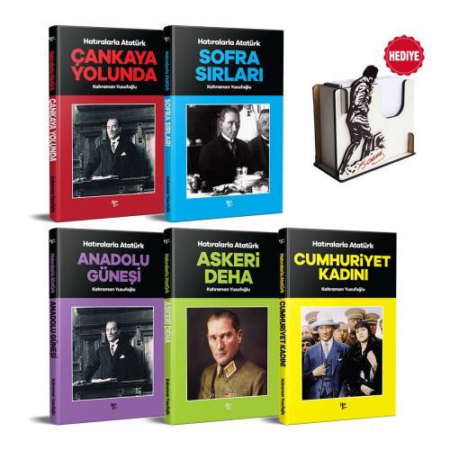 Hatıralarla Atatürk Seti - 5 Kitap ve Atatürk Bloknotluk